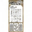 MTHS029 Stampers Anonymous Tim Holtz Layering Stencil - Mini Stencil Set #29